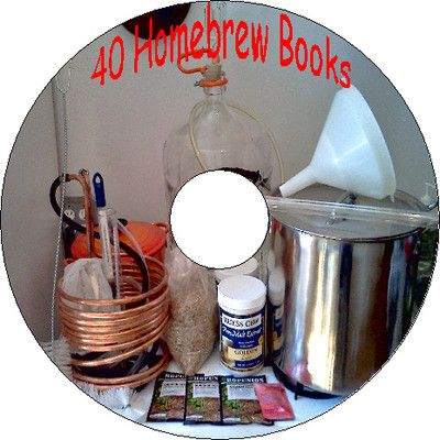 40 Vintage Books How to Homebrewing Beer Wine Moonshine Whiskey Cider Recipes