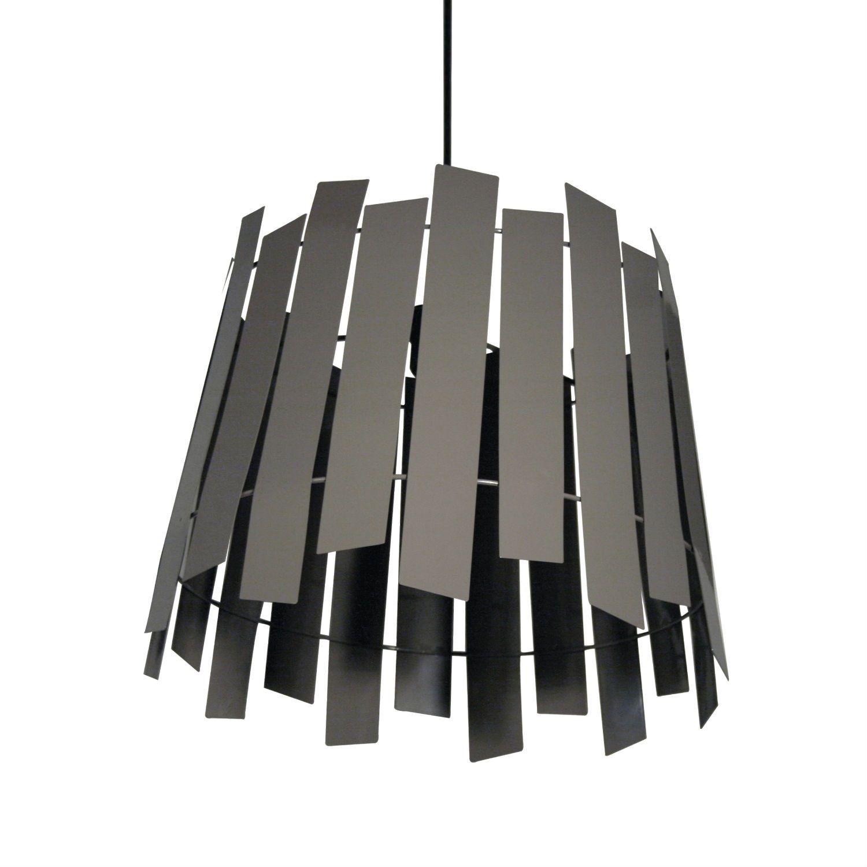 Abat Jour Métal Ajouré suspension composée d'une structure faite de rectangles en métal