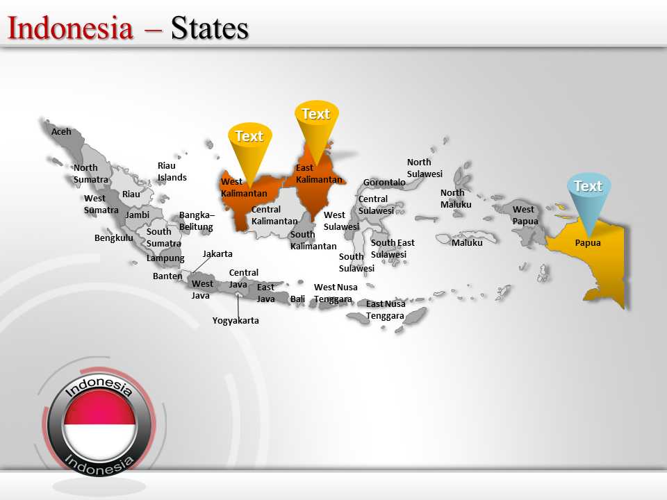 Map Of Indonesia  Ppt Templates    Indonesia