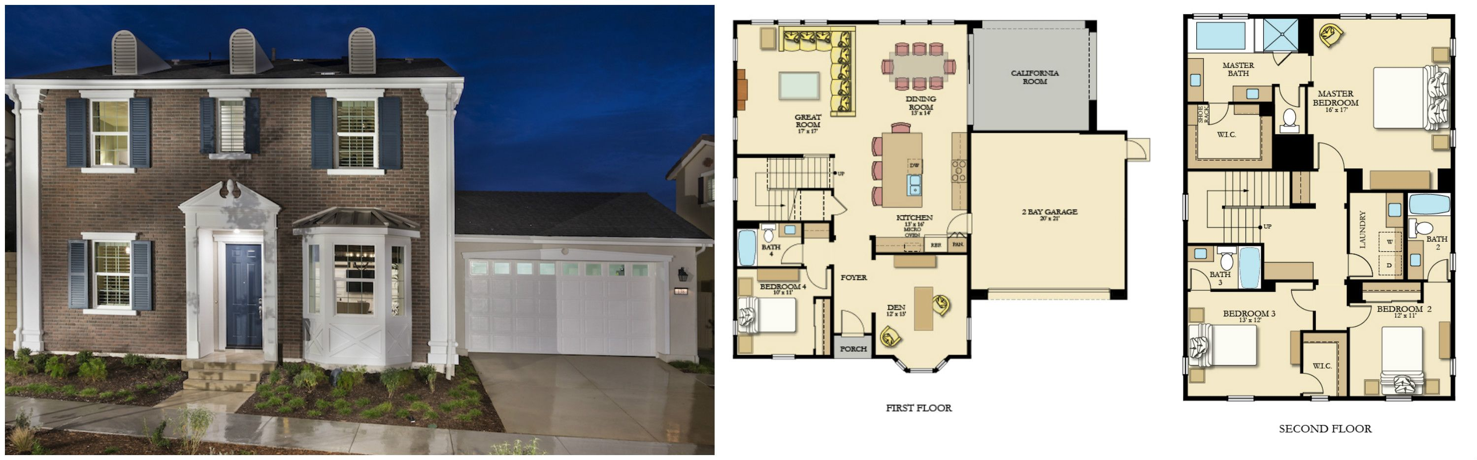 Melody Residence 3 Floorplan. Irvine. Beacon Park. Orange County. New Home. Real Estate.