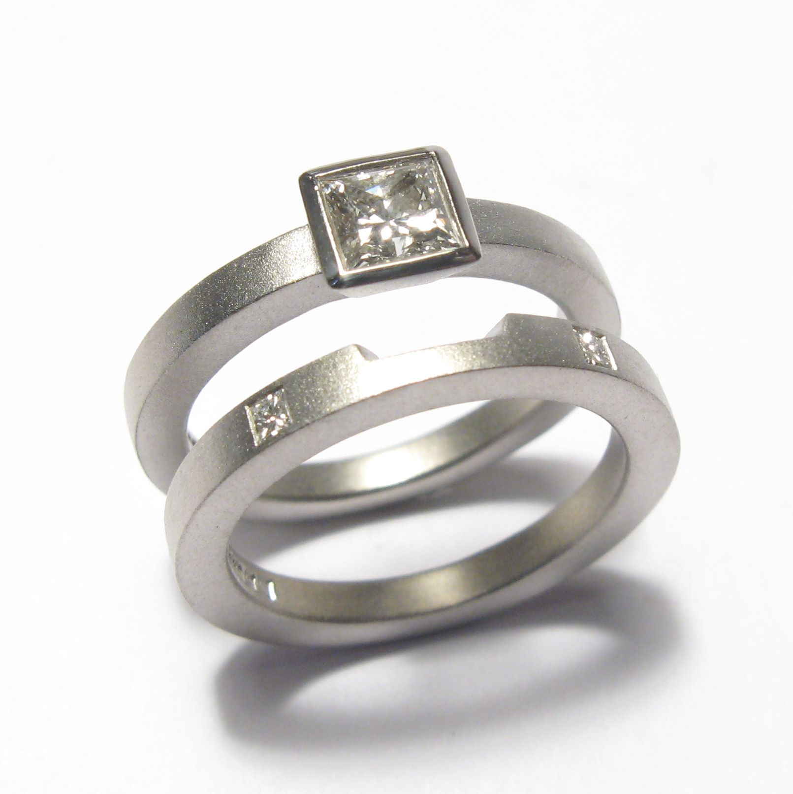 contemporary wedding rings wedding and engagement rings bespoke jewellery fitted wedding rings - Contemporary Wedding Rings