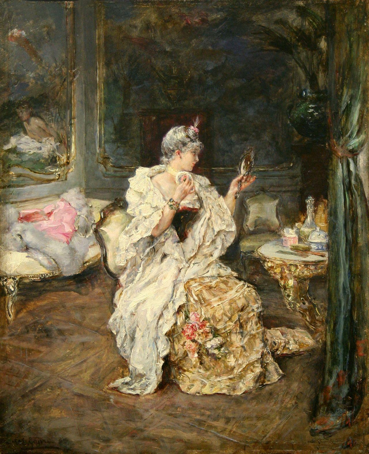 Lady at Her Toilet Eduardo Leon Garrido Obrazy, Sztuka