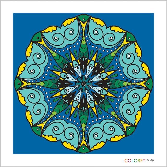 """janice peacock on instagram """"a mandala i painted in"""