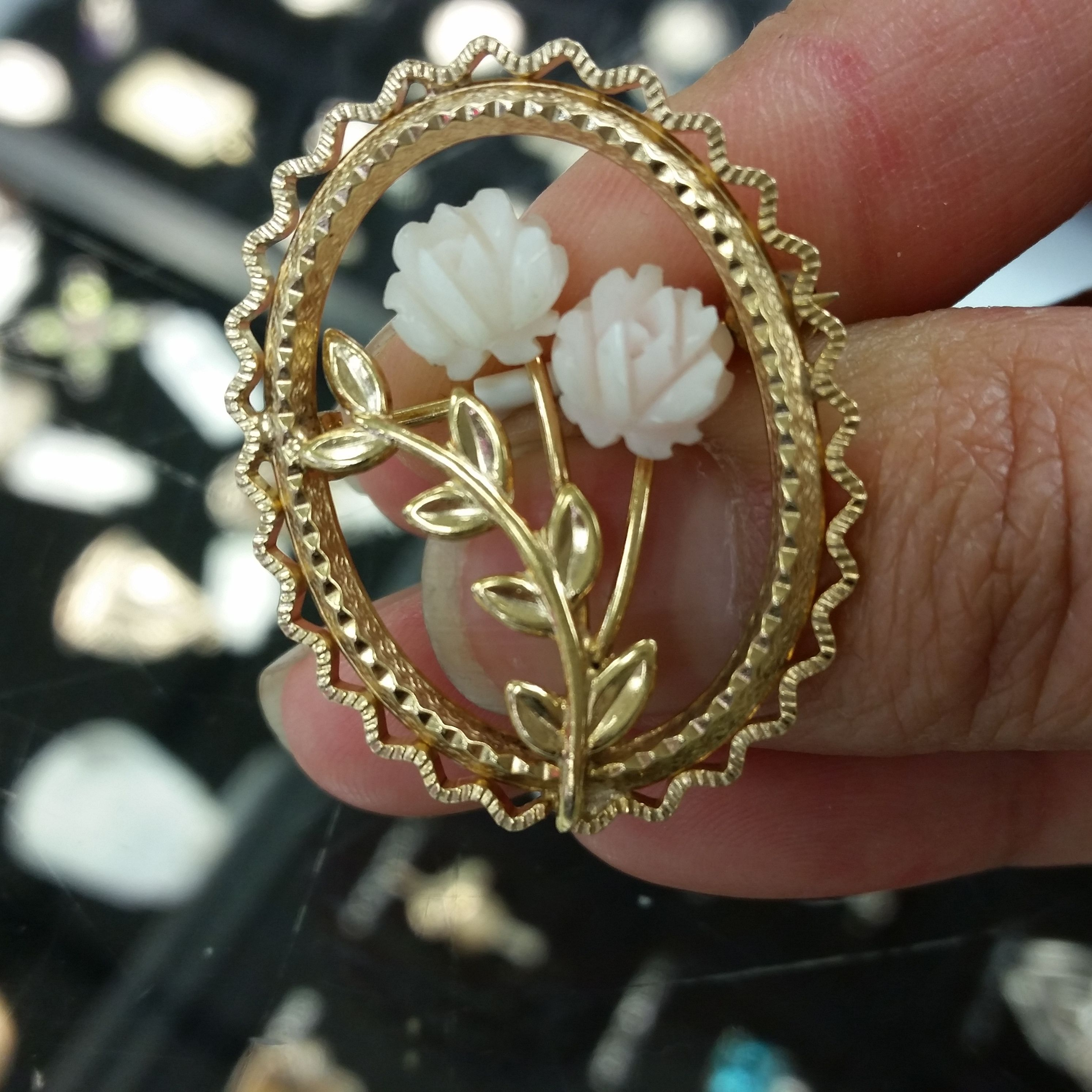 Here is a cute flower brooch that can be worn to any