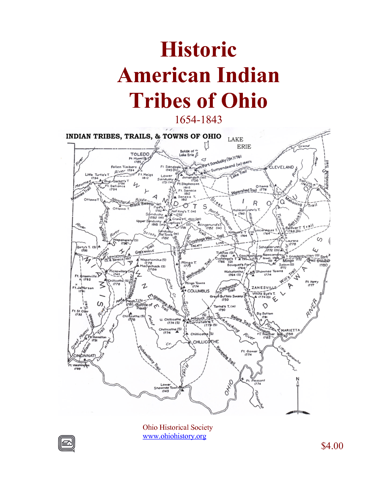 Historic American Indian Tribes Of Ohio
