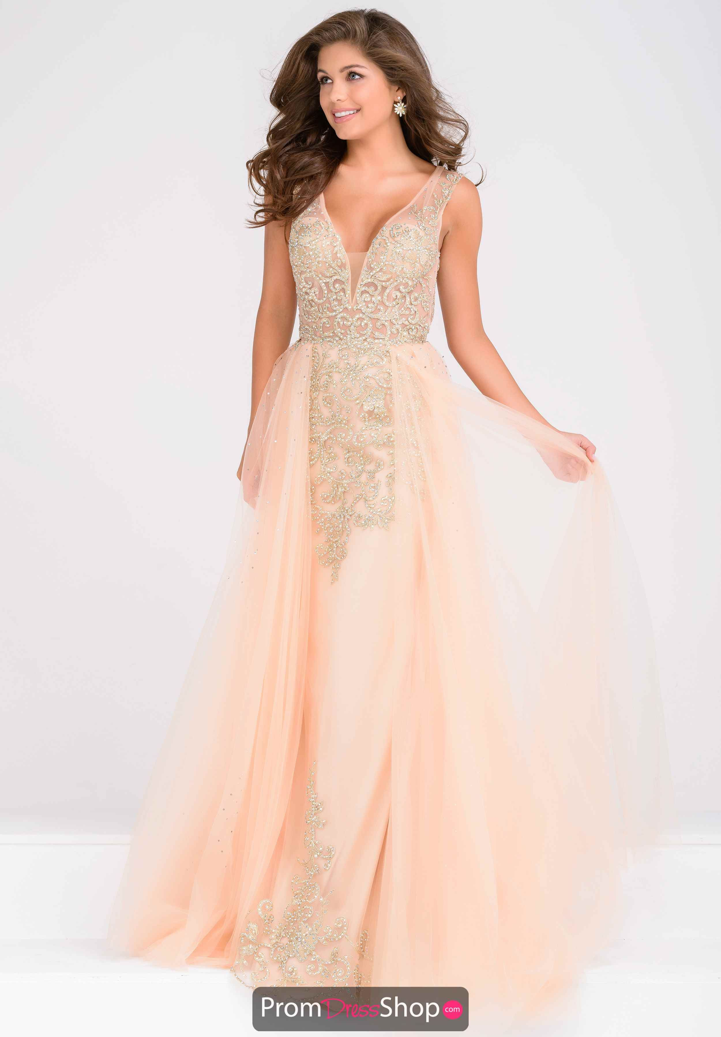 JVN by Jovani Tulle A Line Plus Dress JVN41677 | Gowns ...
