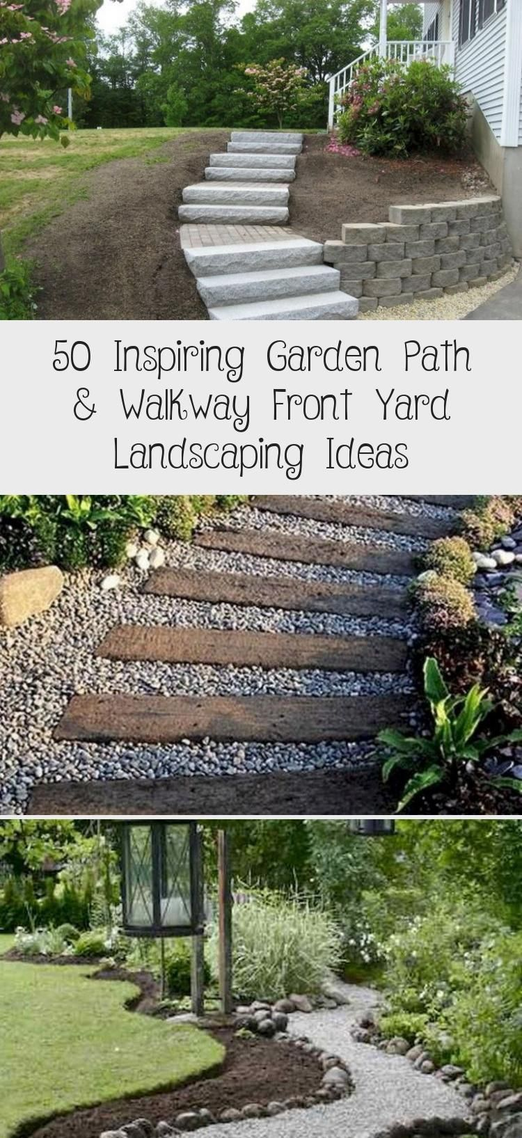 Photo of 50 Inspiring Garden Path & Walkway Front Yard Landscaping Ideas – Architecture