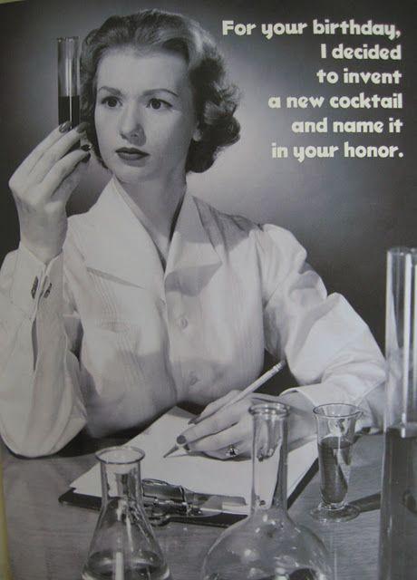 New Cocktail Vintage Humor Happy Birthday Vintage Birthday Meme
