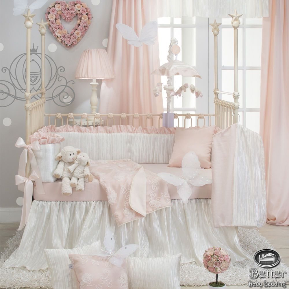 Best New Baby Girl Pink White Luxury Princess Nursery Crib Quilt