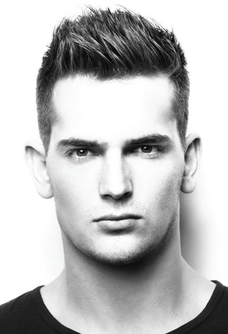 Straight Mens Hairstyles Round Face