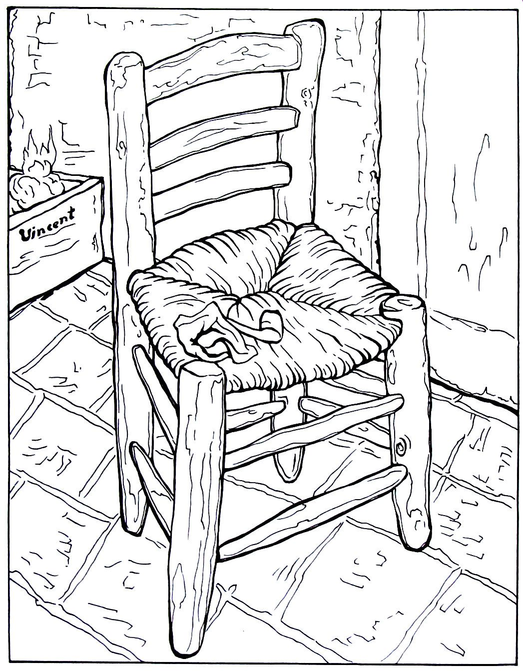 Deckchair Coloring Pages Deck Chairs Outdoor Chairs