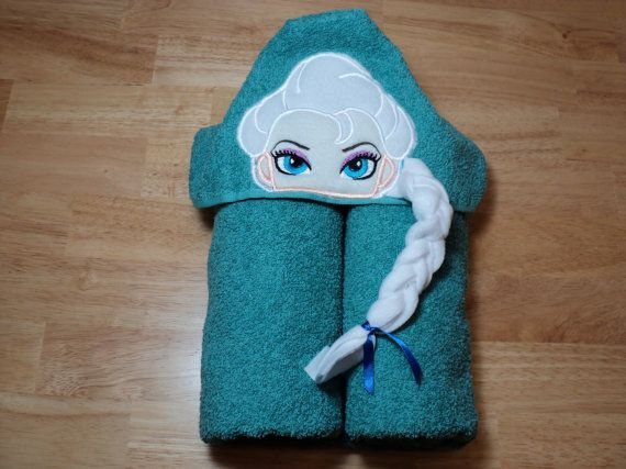 Ice Queen Hooded Towel  Can be Personalized Elsa by fabricamore
