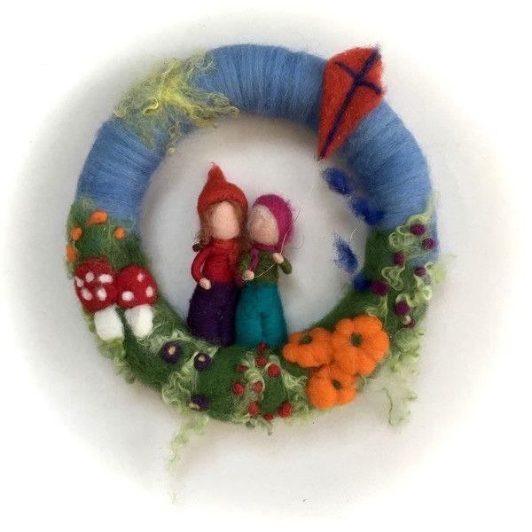 Jahreszeitentisch - Kranz Herbst-Kinder.gefilzt.Waldorf - ein Designerstück von…