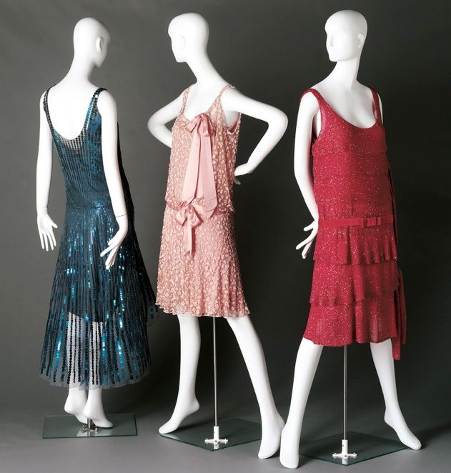 """Gabrielle """"Coco"""" Chanel, 3 Evening Dresses. French, 1920s"""