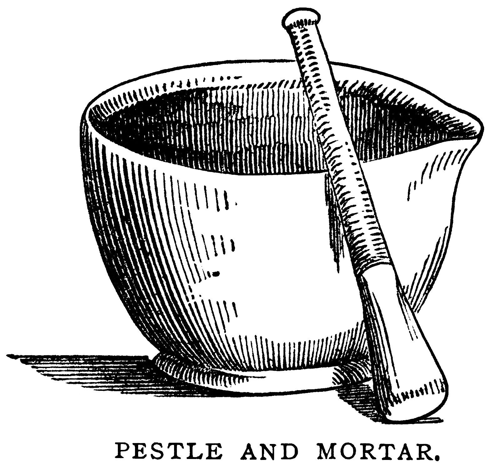 mortar pestle clip art, black and white graphics, vintage food ... for Mortar And Pestle Drawing  56mzq