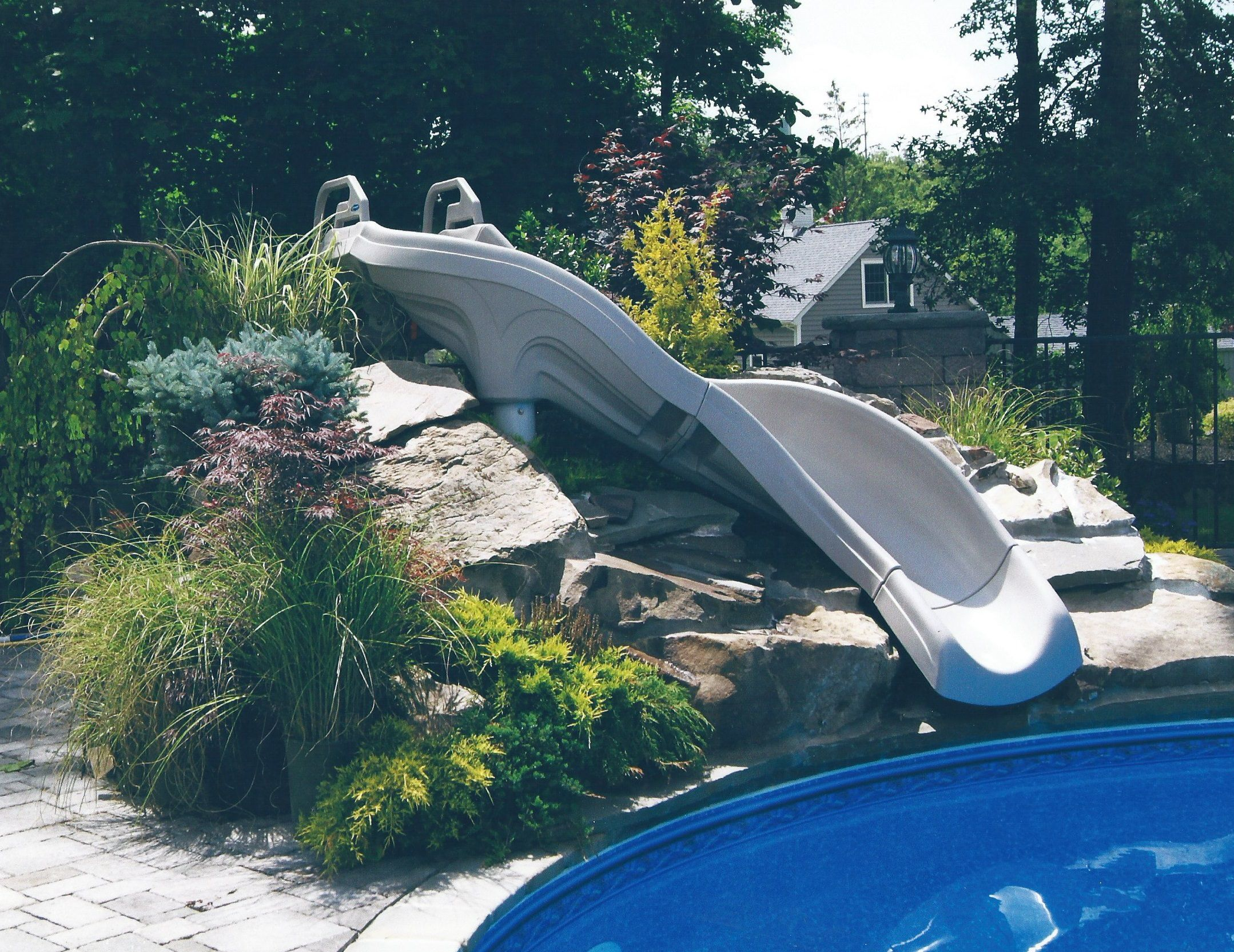 Inground Pools With Slide pool slides for inground pools | show slideshow] | ideas for the