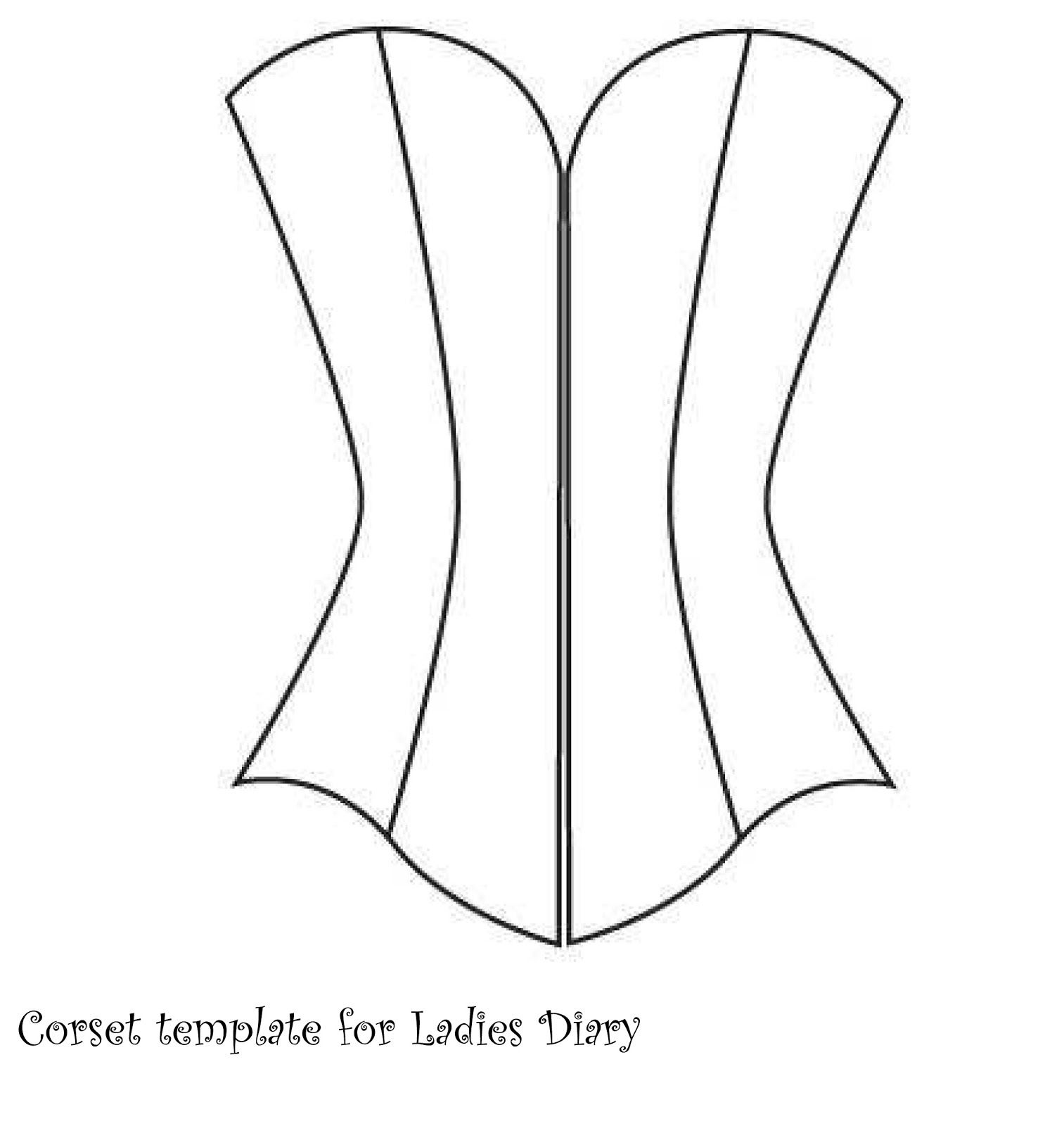 Corset+template+for+Ladies+Diary+(3).jpg (1513×1600) | WEDCARD ...