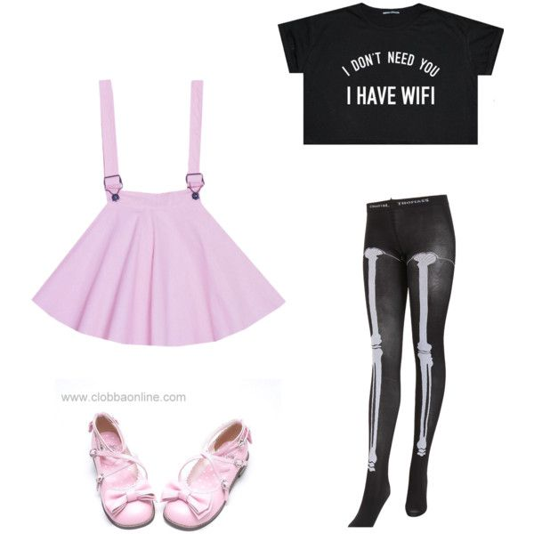 Pastel Goth by pipertehcat on Polyvore featuring Chantal Thomass