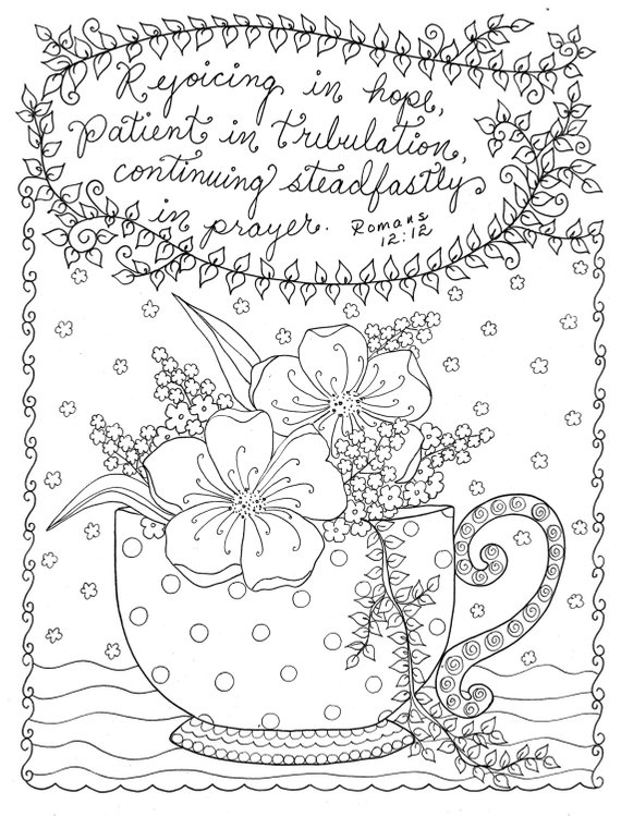 Digital Coloring page Christian Coloring Scripture Instant Download ...