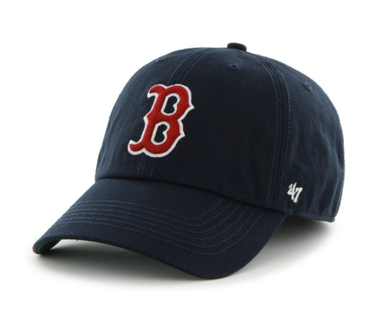 boston red sox 47 brand navy b logo the franchise fitted hat cap