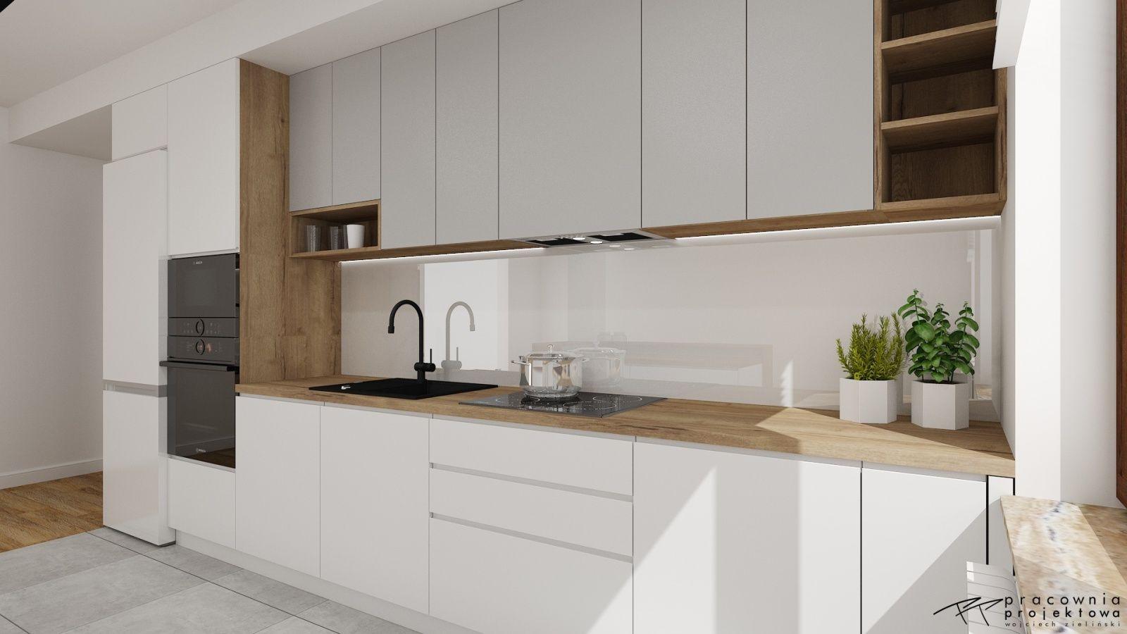 Galeria Projektow Kuchni Lazienek Wnetrz Pro100 Galley Kitchen Design Home Decor Kitchen White Wood Kitchens