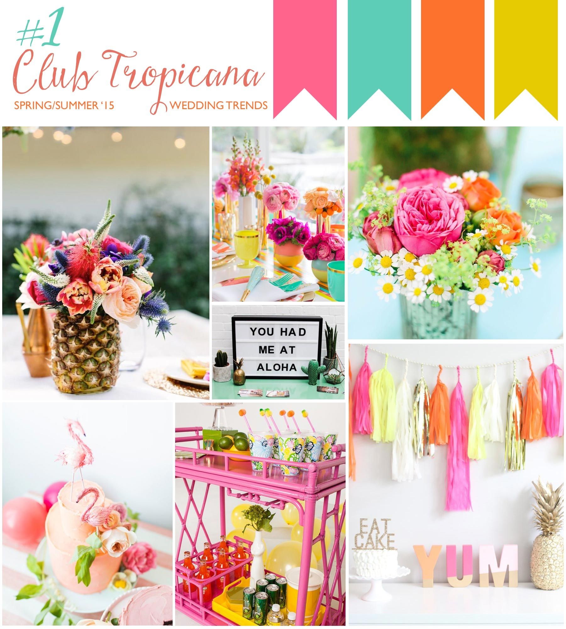 club tropicana 3 of the hottest spring summer wedding trends