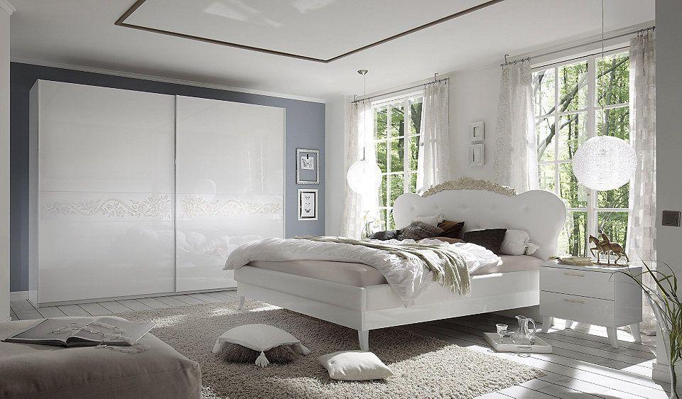 LC Schlafzimmer-Set (4-tlg) Jetzt bestellen unter    moebel - schlafzimmer weiss hochglanz