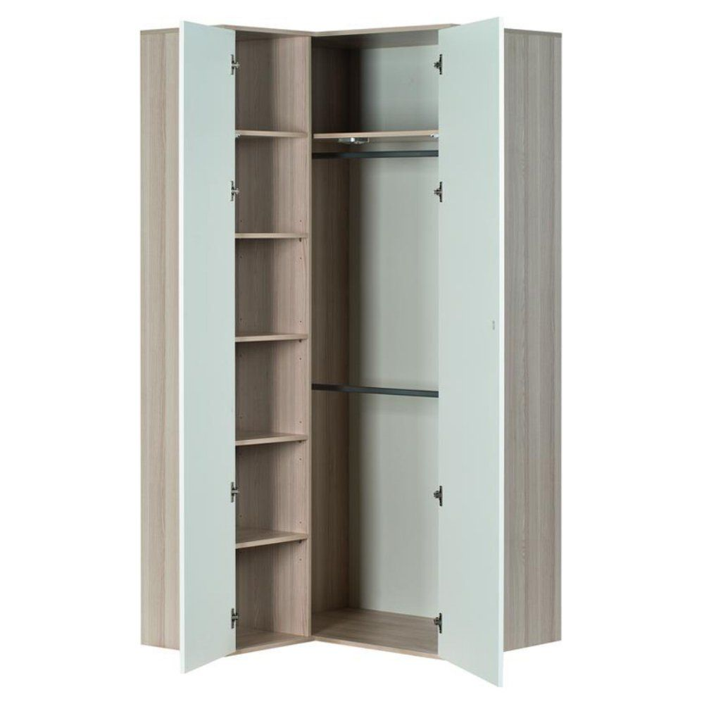 Voelkel Spot Corner Armoire   No Closet, No Problem   The Voelkel Spot Corner  Armoire Gives Your Bedroom The Storage It Needs   And All In That Weird, ...