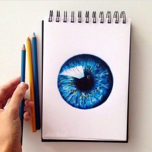 Blue eye 3D drawing