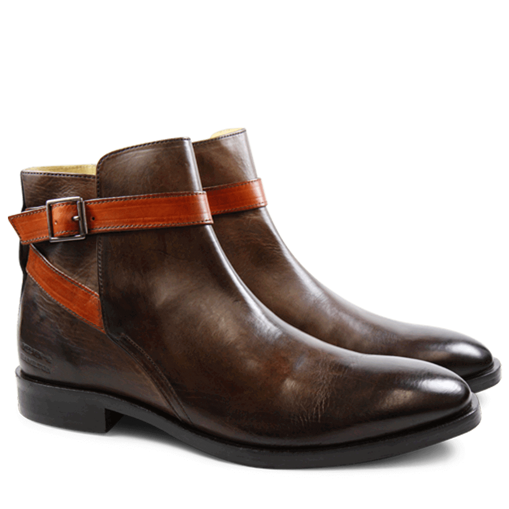 Bottines Tom 6 Crust Dark Brown Strap Winter Orange HRS | Melvin & Hamilton