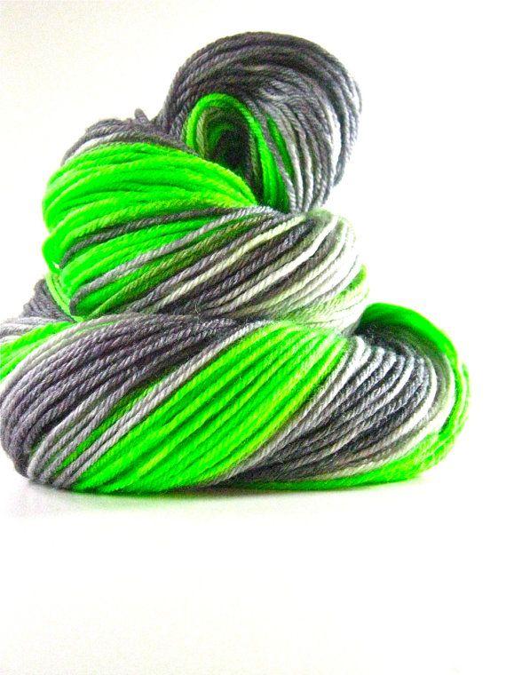 Hand Dyed Yarn Superwash BFL and Bamboo Lustre Sock Yarn in UFO