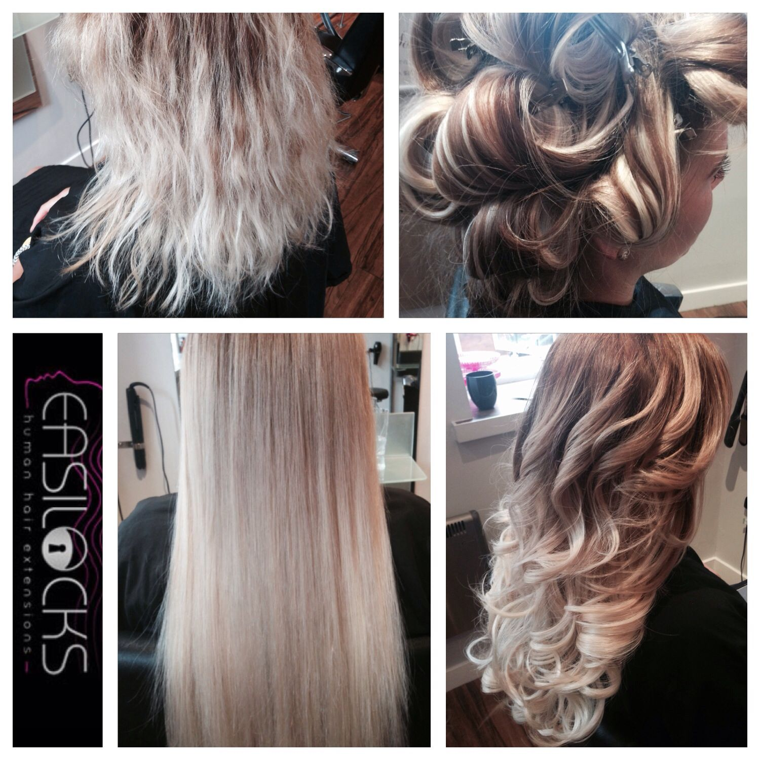 Amazing Blonde Transformation By Sophie Using Easilocks Extensions