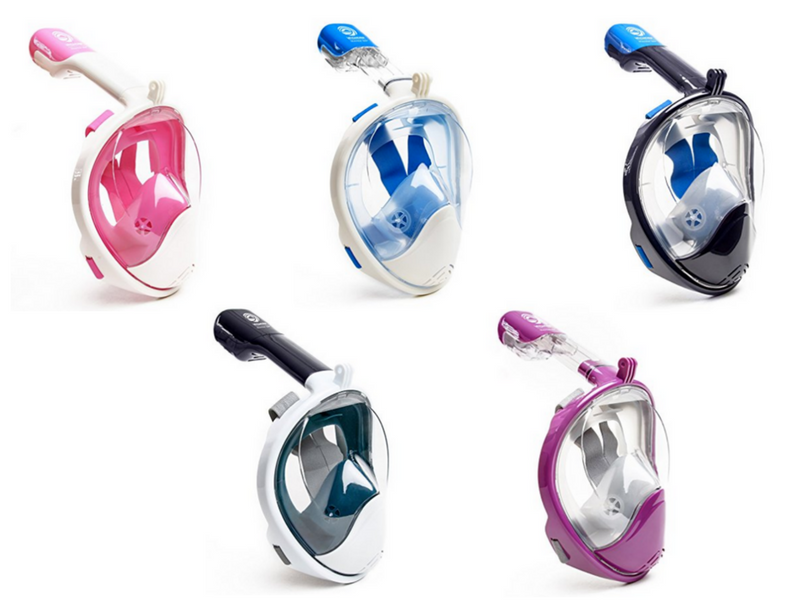 654349051 SeaView 180° Snorkel Mask versus Tribord Easybreath vs Ocean Reef Aria