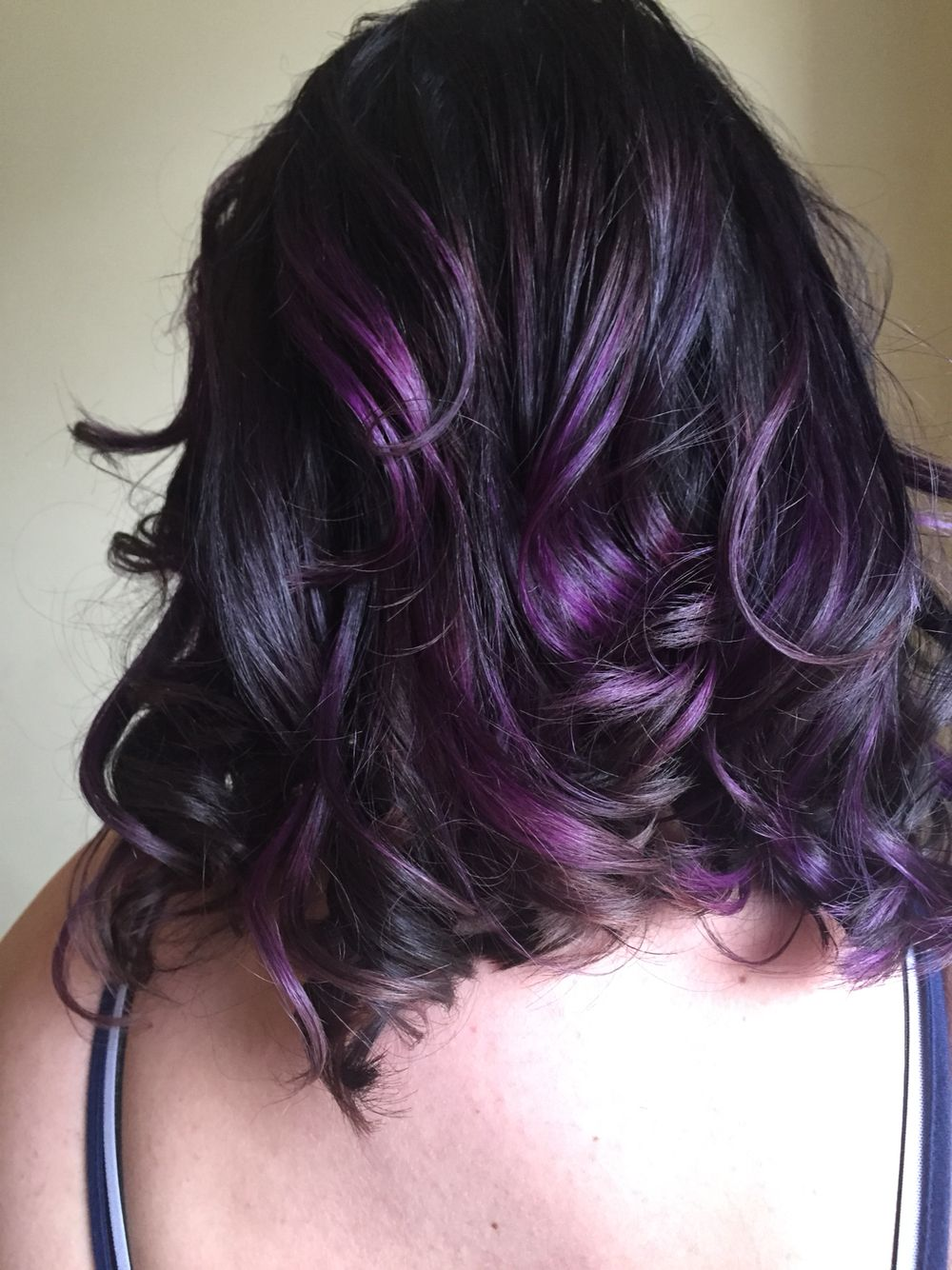 balayage black and purple hairstyles farben. Black Bedroom Furniture Sets. Home Design Ideas