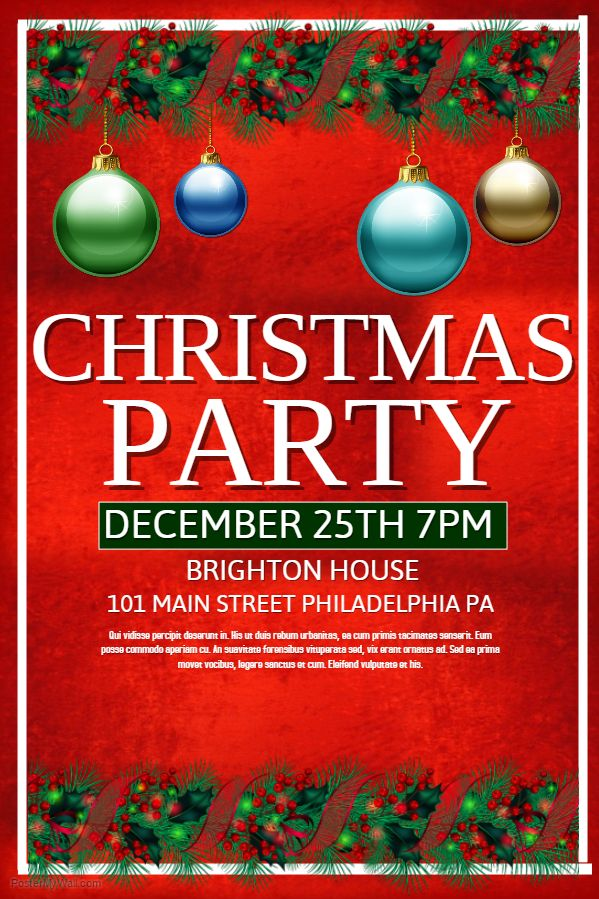 christmas party poster idea - Christmas Poster Ideas