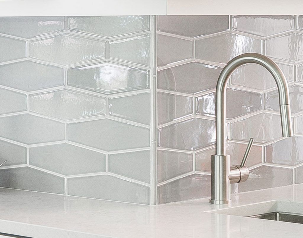 Gray Gloss Elongated Hexagons Pratt Larson Hexagon Tile