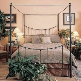 Knot Canopy Wrought Iron Bed Queen Frame
