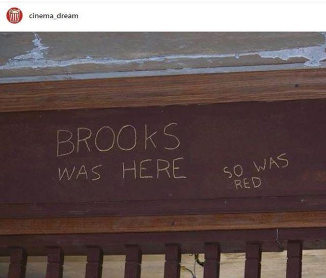 Brooks Esteve Aqui Red Também Esteve Frase Do Filme Um Sonho De