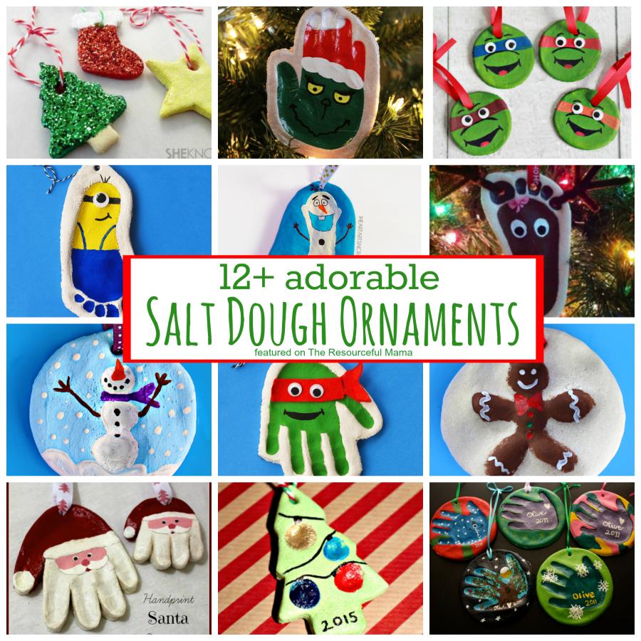 12 Adorable Salt Dough Ornaments In 2020 Salt Dough Ornaments Dough Ornaments Kids Ornaments