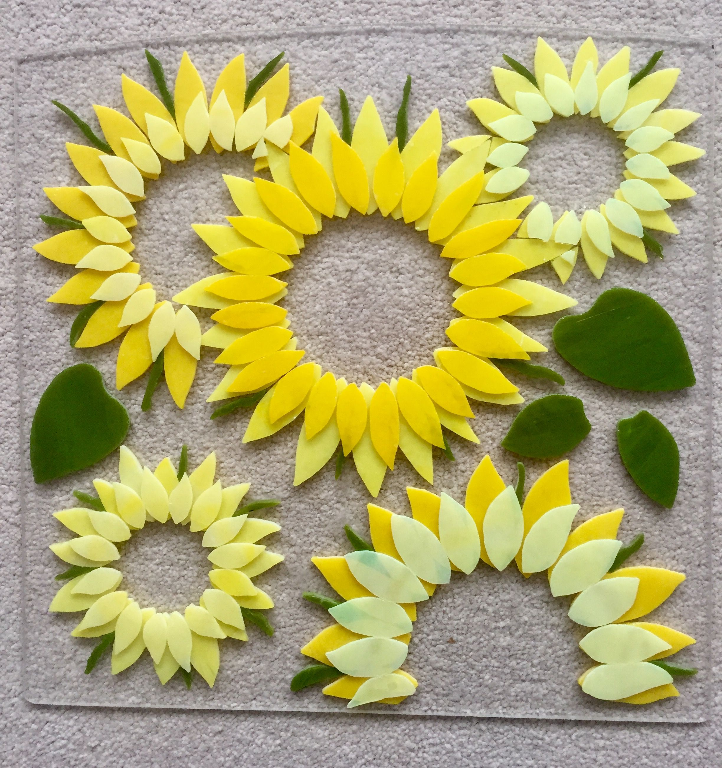 Fused glass - sunflowers how to | I LOVE GLASS!! | Pinterest ...