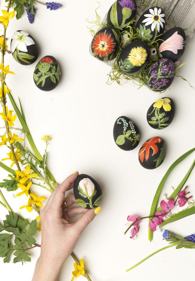 From the Paper Garden by Molly Peacock - botanical easter eggs. Repinned by www.mygrowingtraditions.com