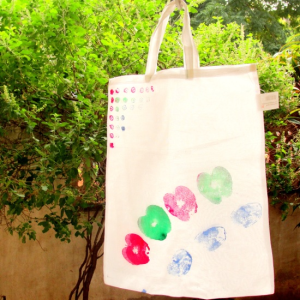 Decorate grocery bags - Follow @Guidecentral for #crafts and #DIY projects