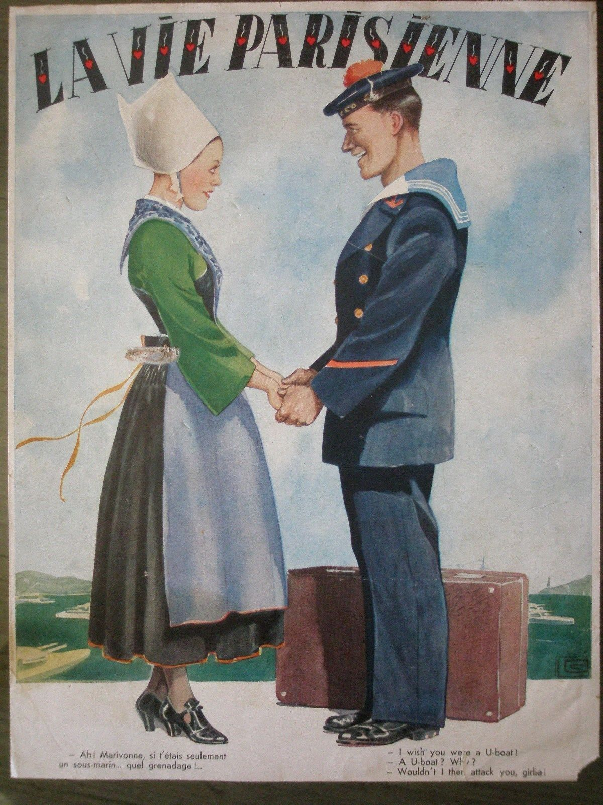 Georges Léonnec (1881 – 1940). La Vie Parisienne, 1940. [Pinned 23-vii-2015]