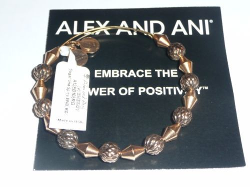 ALEX-and-ANI-Sugar-and-Spice-beaded-bangle-bracelet-Russian-Gold Purchased 2/6/16