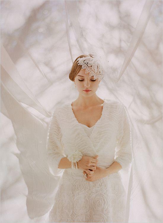 Ruche Vintage Style Wedding Gown