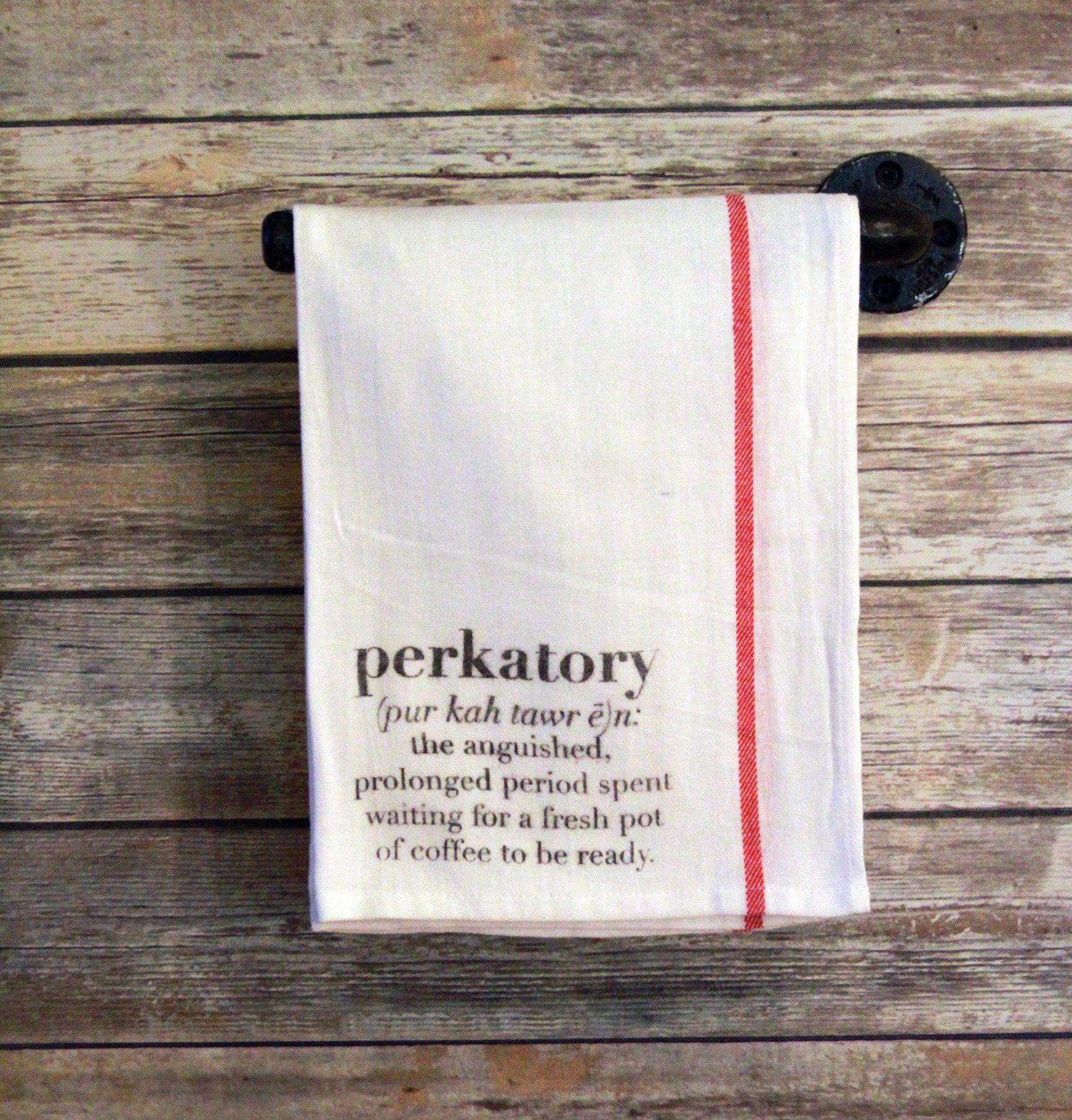 Perktory Funny Coffee Gift Funny Dish Towel Hanging Tea Towel