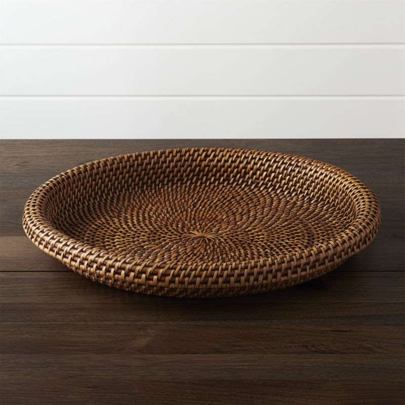 Shop Artesia Honey Rattan Serving Tray. Handcrafted of 100% rattan, the  Artesia serving