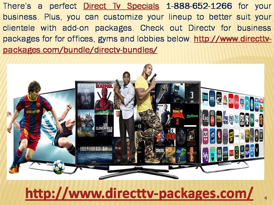 Direct Tv Specials 18886521266 for offices, gyms and
