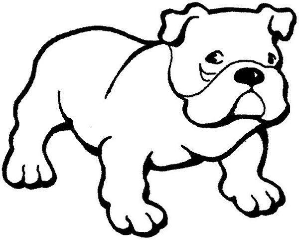 ausmalbilder kostenlos – Bulldogge Welpen Ausmalbilder: Bulldogge ...