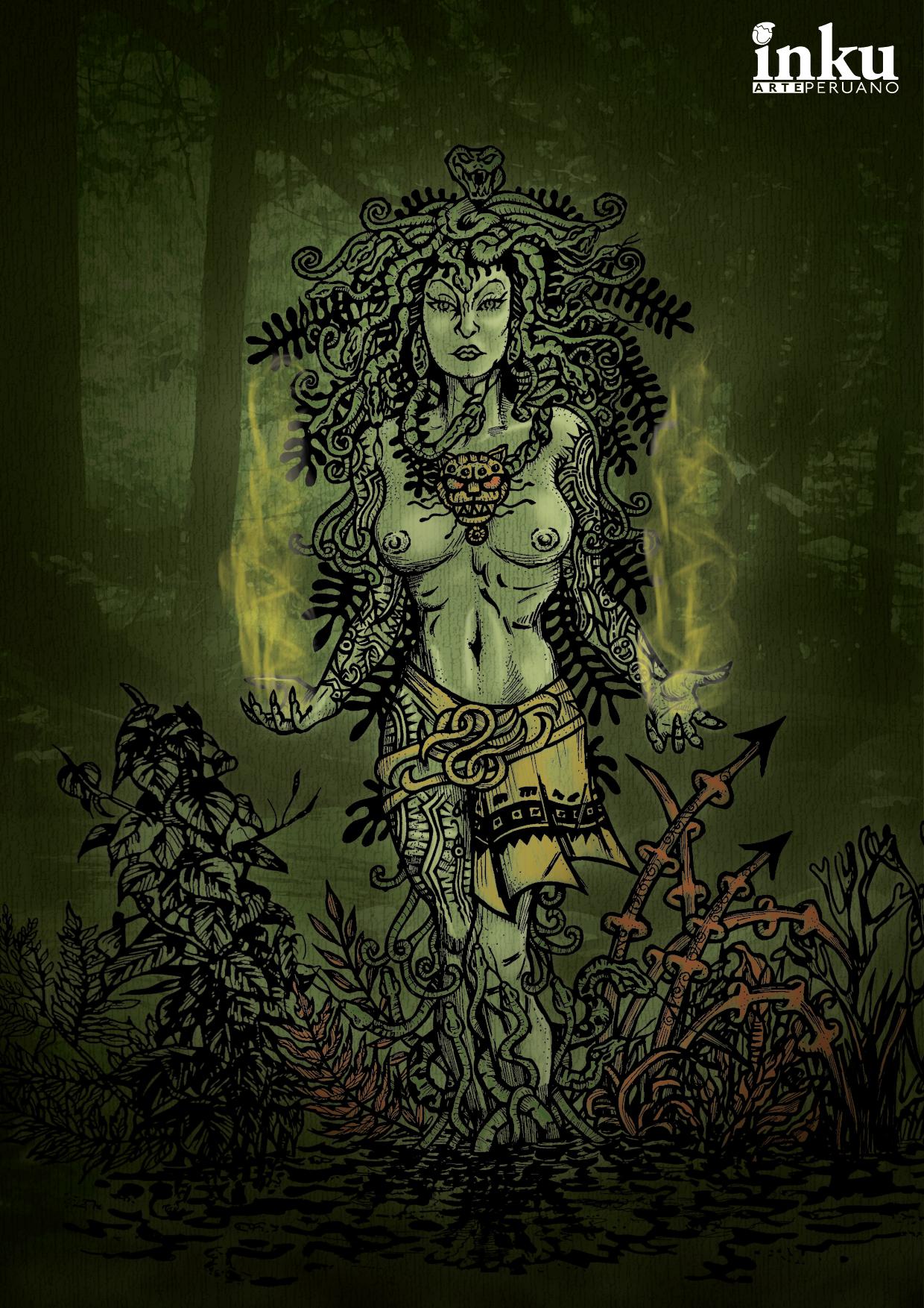 La Yacumama: Ilustración basada en una leyenda de la Selva Peruana ...